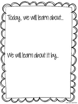Plan of the Day Posters for Speech-Language Pathologists