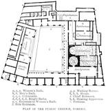 Plan of the Public Baths in Pompeii