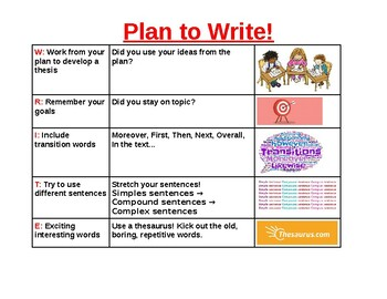 Plan to Write Posters!