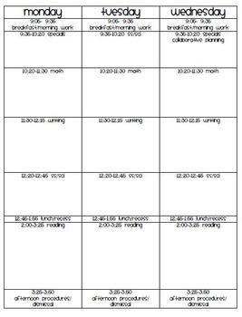 Planbook Template
