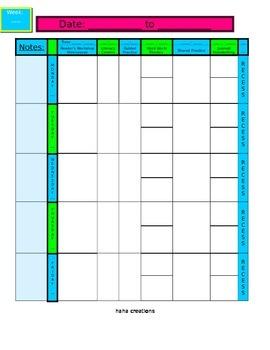 Planbook Templates - Editable