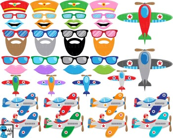 Plane And Pilot Props V2 - Clip Art Digital Files Personal Commercial Use cod243