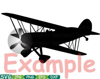Plane Aviation Airplanes clip art black shape Silhouette Patriotic travel -219s