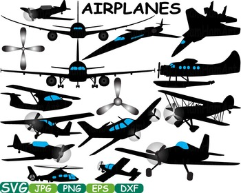Plane Aviation Airplanes clip art black shape Silhouette P