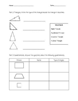 Plane Figures and Solid Figures Quiz
