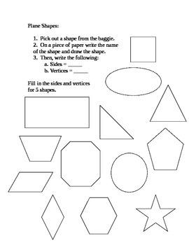 Plane Geometric Shapes Center