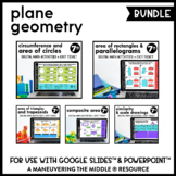 Plane Geometry Digital Math Activity Bundle | 7th Grade Ma