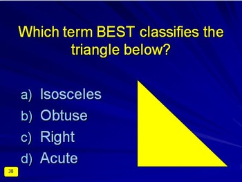 Plane Geometry Interactive Multiple-Choice Quiz Game