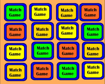 Plane Geometry SmartBoard Matching Game