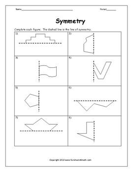 Line Of Symmetry Worksheet | Teachers Pay Teachers