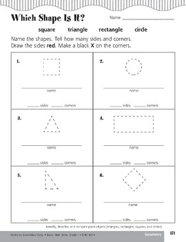 Plane Objects (Triangles, Rectangles, Squares, Circles)