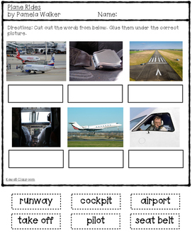 Plane Rides: Vocabulary Activity {Level H}