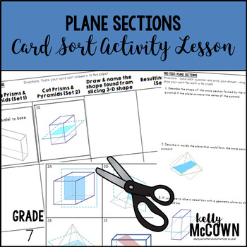 Plane Sections Card Sort Activity Lesson