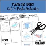 Plane Sections Cut & Paste Activity