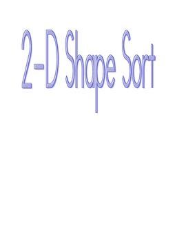 Plane Shape Sort - 2-D shapes