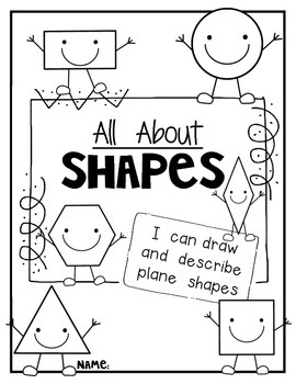 "Plane Shapes ""All About 2D Shapes"" Book! Let's Read, Draw and Write"