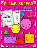 """Plane Shapes """"All About 2D Shapes"""" Book! Let's Read, Draw and Write"""
