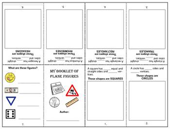 Plane Shapes - Foldable Booklet
