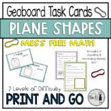 Plane Shapes Geoboard Task Cards