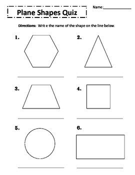 Plane Shapes Quiz