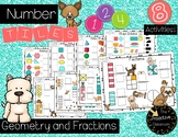 Plane Shapes, Solid Shapes, and Fractions Number Tiles