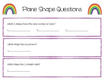 Plane Shapes Sort - Spring Theme