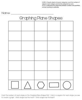 Kindergarten Plane Shapes Unit (Common Core)