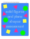 Plane Shapes and Solid Figures Assessment