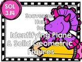 Plane & Solid Geometric Figure Scavenger Hunt-SOL 3.14