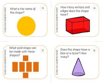 Plane & Solid Geometric Figures: Identify, Describe, Compare & Contrast