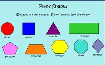 Plane & Solid Shape Smart Notebook for Common Core Standard on Geometry