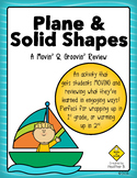 Plane & Solid Shapes Math Review Activity for First & Second Grade