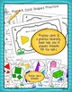 Plane & Solid Shapes Math Review Activity for First & Seco