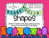 Plane & Solid Shapes (crafts, posters, games, flashcards,