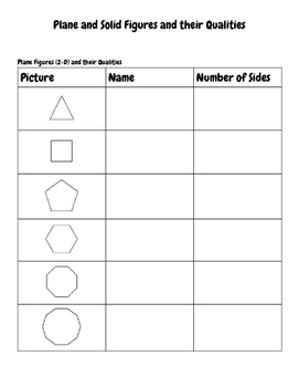 Plane and Solid Figures Worksheet