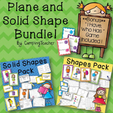 Plane and Solid Shapes Pack Math Bundle {with Bonus Game Included!}