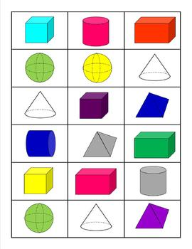 Plane and Solid Shapes- Roll, Identify, Keep!