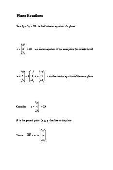 Plane equations