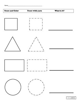 Plane shape trace, color, and name
