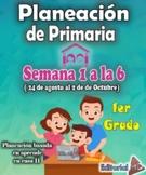 Planeación de primaria 1er grado Aprende en casa 2 (Semana 1 a la 6)