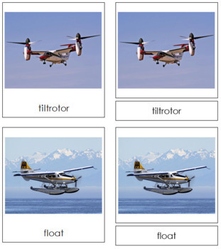 Planes: 3-Part Cards