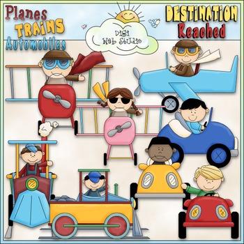 Planes, Trains & Autos Kids Clip Art - Transportation Clip Art -CU ClipArt & B&W