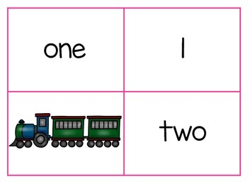 Planes, Trains and Automobiles Number Matching Cards