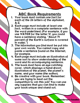 Planet ABC Book - A Research Project