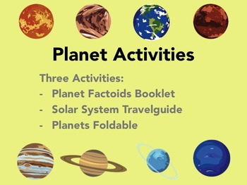 Comparing Planets - Astronomy Activities