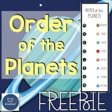 Order Of The Planets Activity FREE