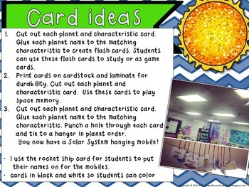 Planet Activity Cards