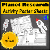 Planet Activity Sheet Posters