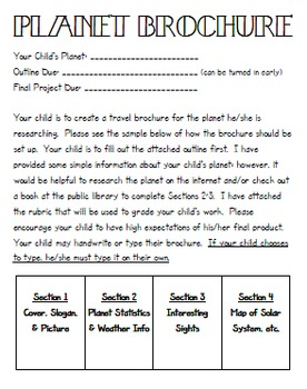 Planet Brochure Project (FUN!)