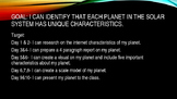 Planet Characterisitics Project